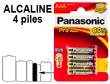 Blister 4 piles LR03 PANASONIC